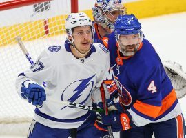 The Tampa Bay Lightning will host the New York Islanders in Game 7 of their Stanley Cup Semifinals series on Friday. (Image: Rich Graessle/Icon Sportswire/Getty)