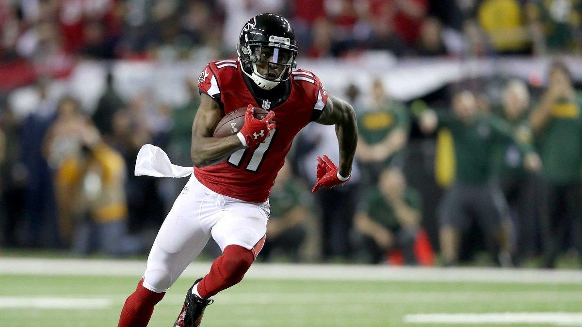 Julio Jones Atlanta Falcons rumor perdagangan Seattle Seahawks Tennessee Titans New England Patriots