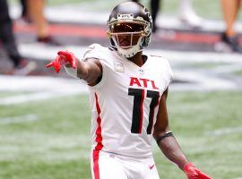 Julio Jones departs the Atlanta Falcons after ten seasons and joins the Tennessee Titans after the two teams agreed on a trade. (Image: Getty)