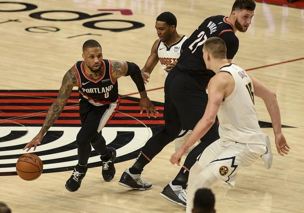 Denver Nuggets Portland Trail Blazers Game 6 NBA Playoffs Damian Lillard Nikola Jokic