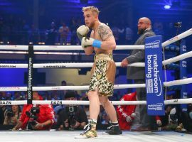 Jake Paul (pictured) will take on former UFC champion Tyron Woodley in his fourth professional boxing bout. (Image: Getty)