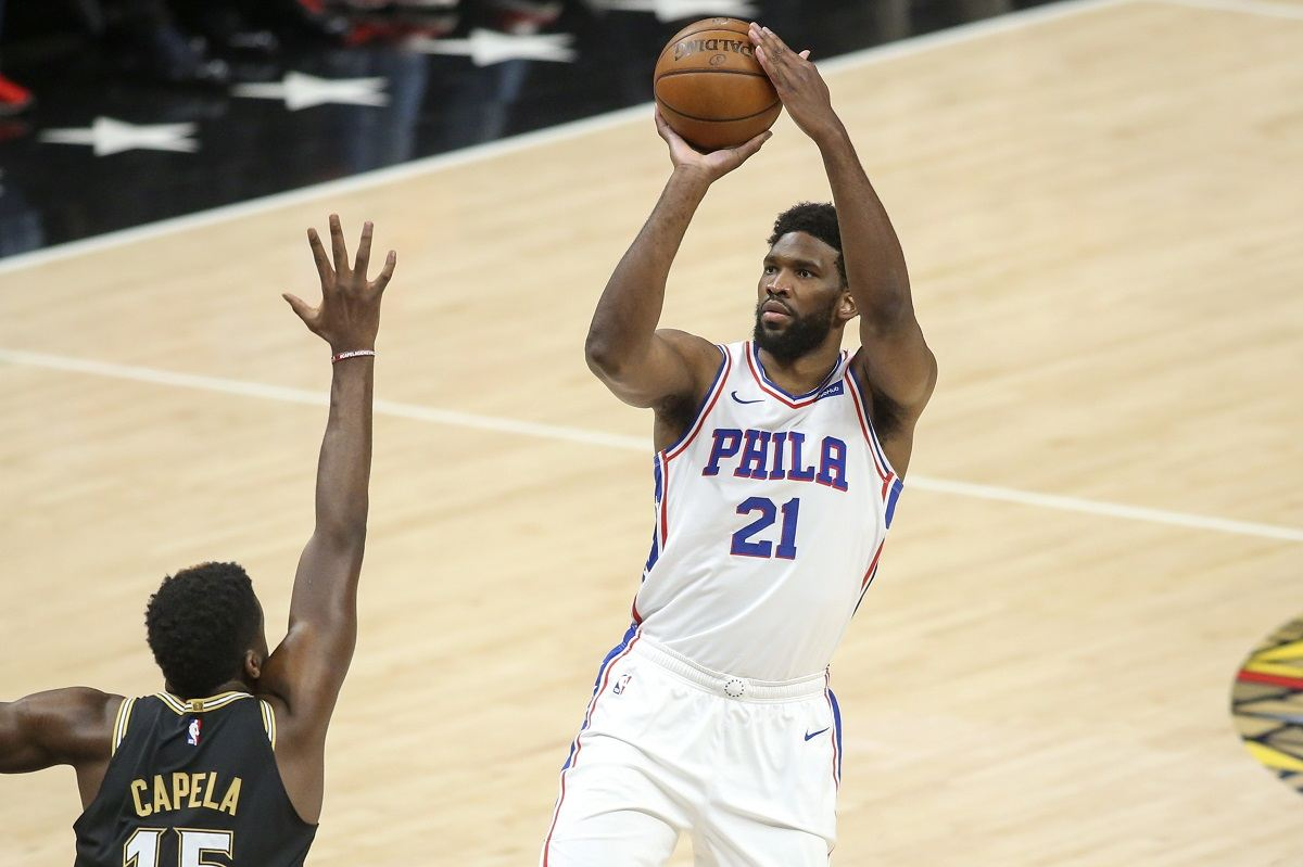 Joel Embiid Philadelphia 76ers Atlanta Hawks Series Odds 2-2 LA Clippers Utah Jazz Brooklyn Nets Milwaukee Bucks