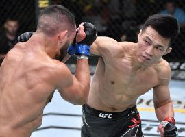 """""""The Korean Zombie"""" Chan Sung Jung won a unanimous decision over Dan Ige to reassert himself as a contender in the UFC's featherweight division. (Image: Chris Unger/Zuffa)"""