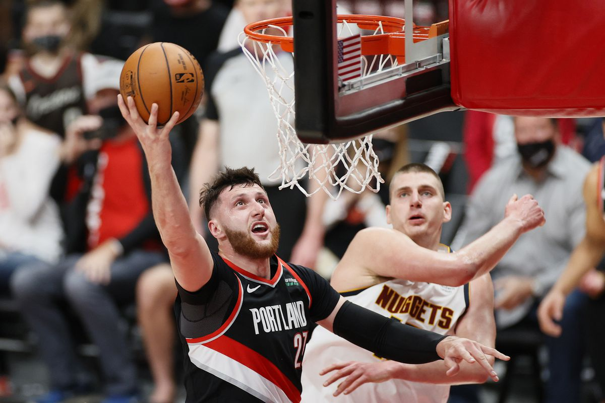 Jusuf Nurkic Nikoa Jokic Game 5 Playooff NBA Portland Trail Blazers Denver Nuggets