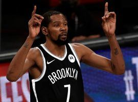 Kevin Durant and the Brooklyn Nets are the betting favorites to win the NBA title despite battling injuries to key players in the regular season and postseason. (Image: Getty)