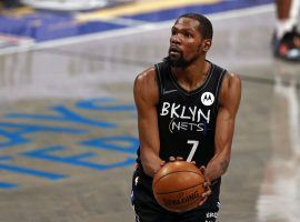 Kevin Durant from the Brooklyn Nets is the favorite to win a third-career NBA Finals MVP, if he can take the Brooklyn Nets to the promised land and win the 2021 championship. (Image: Getty)