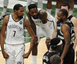 Kevin Durant Khris Middleton NBA Playoffs Brooklyn Nets Milwaukee Bucks Game 7