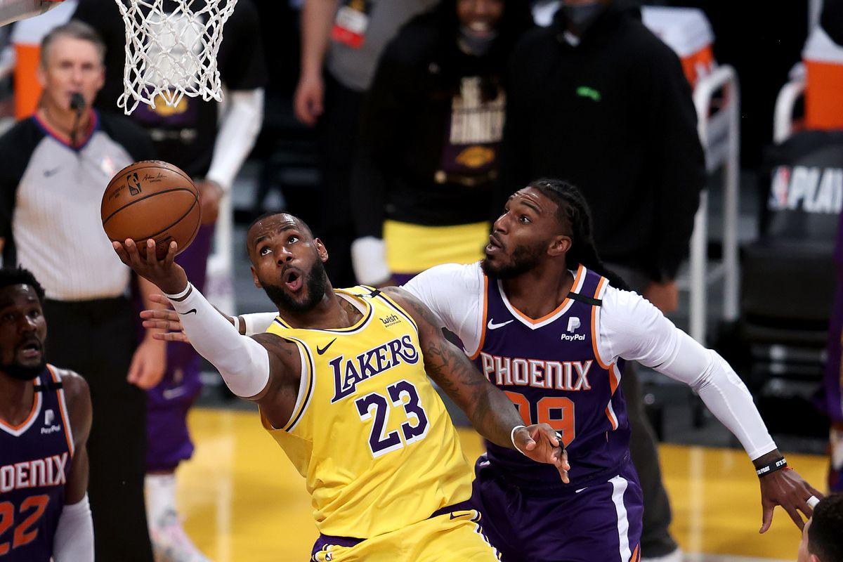 LA LAkers Phoenix Suns LeBron James NBA Playoffs Game 6