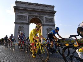 Tadej Pogacar rides into Paris with the yellow jersey in the 2020 Tour de France. The young Slovenian comes into the 2021 Le Tour as the favorite to repeat. (Image: Reuters)