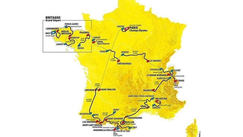 Tour de France mapcourse 2021 stages
