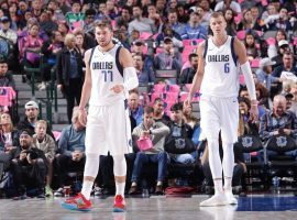 Luka Doncic (77) is the future of the Dallas Mavericks, but will his sidekick Kristaps Porzingis (6) remain in the Big D for much longer? (Image: Getty)