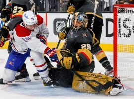 Vegas Golden Knights goaltender Marc-Andre Fleury sat out Game 4, but will likely return to the net for Game 5 against the Montreal Canadiens. (Image: Getty)