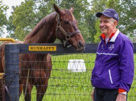 """Because he's a horseman at his core, Jim """"Mattress Mack"""" McIngvale made sure to wager his entire $2.4 million on Kentucky Derby favorite Essential Quality at Churchill Downs. (Image: Kentucky HBPA/@KyHBPA)"""