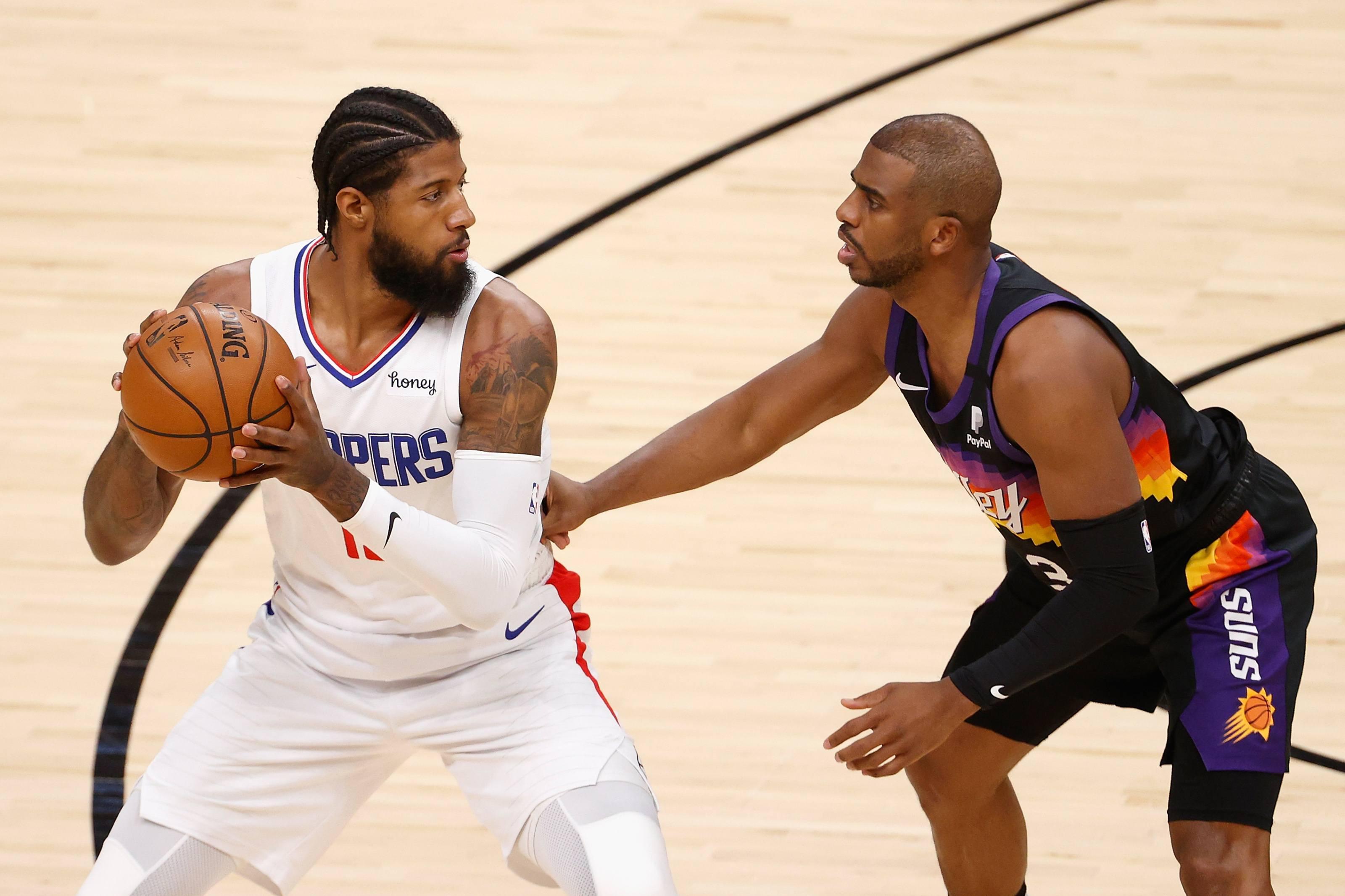 LA Clippers Phoenix Suns Seri Final Wilayah Barat Playoff NBA Paul George Kawhi Leonard Chris Paul