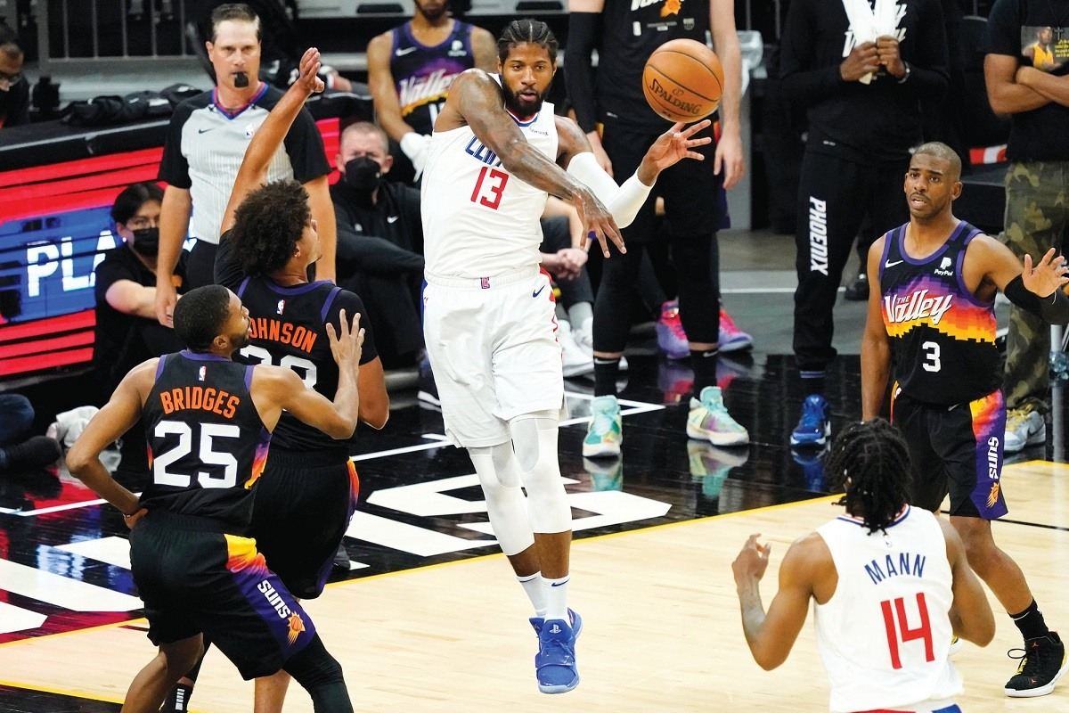 Paul George Playoff P LA Clippers Game 6 Phoenix Suns NBA Playoffs