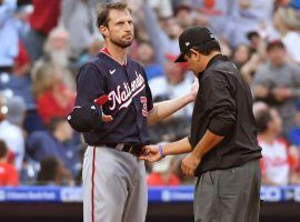 Max Scherzer went through three checks for foreign substances on Tuesday, including one that opposing manager Joe Girardi initiated. (Image: Eric Hartline/USA Today Sports)