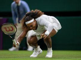 Serena Williams retired from her first-round match at Wimbledon with a leg injury on Tuesday. (Image: Reuters)
