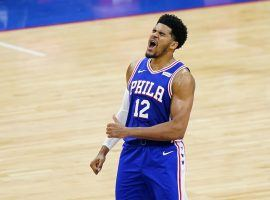 Tobias Harris of the Philadelphia 76ers lead the Sixers in scoring during the Washington Wizards series due to an unfortunate injury to teammate Joel Embiid. (Image: AP)