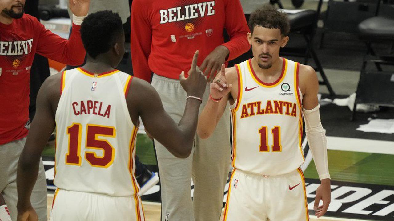 Trae Young Atlanta Hawks Milwaukee Bucks Game Playoff NBA 2