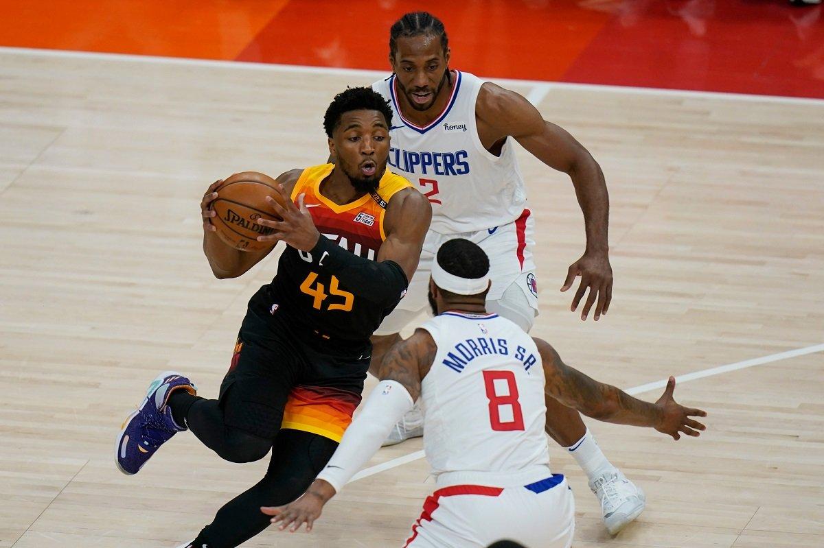 Donovan Spida Mitchell Utah Jazz LA Clippers Game 3 NBA Playoffs
