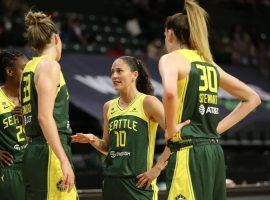 The Seattle Storm are out to a fast 12-2 start, and remain the favorites to defend their WNBA Championship. (Image: Joshua Huston/Getty/NBAE)