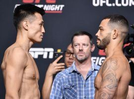 The Korean Zombie Chan Sung Jung (left) will face off against Dan Ige (right) in the main event of UFC Fight Night on Saturday, June 19. (Image: Chris Unger/Zuffa)