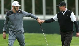 Dustin Johnson has Wayne Gretzky rooting for him. (Image Getty)