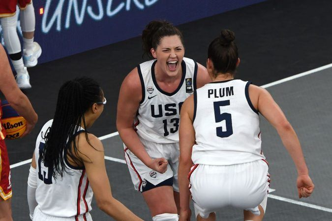 The United States is favored for gold in the first ever Olympic women's 3x3 basketball tournament. (Image: Guo Chen/Xinhua/Getty)