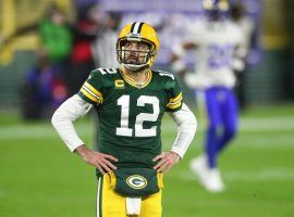 Aaron Rodgers still wants out of Green Bay after the Packers quarterback has lost faith in the front office. (Mark J. Rebalis/USA Today Sports)