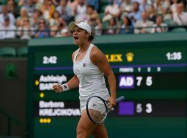 Ashleigh Barty heads into the quarterfinals as the favorite to win the 2021 Wimbledon title. (Image: AP)