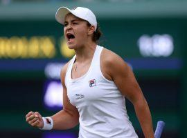 Ashleigh Barty (pictured) will take on former champion Angelique Kerber in on of the women's semifinal matches at Wimbledon on Thursday. (Image: PA Wire)