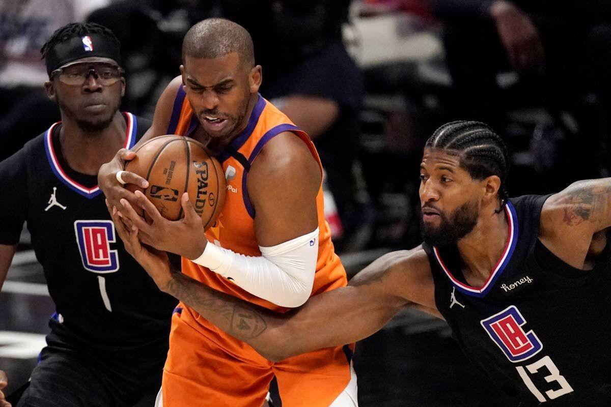 Phoenix Suns Chris Paul memenangkan Western Conference Finals Championship NBA Playoffs LA Clippers