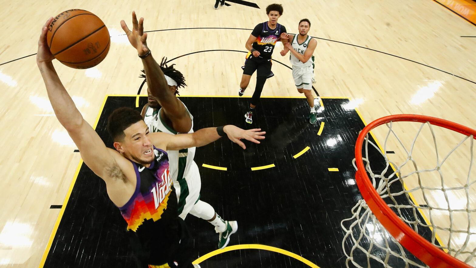 Devin Booker Phoenix Suns Milwaukee Bucks Game 3 NBA Finals