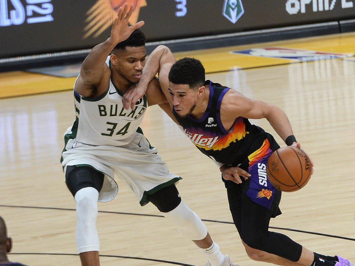 Phoenix Suns Game 2 Final NBA Playoffs Yunani Freak Devin Booker Milwaukee Bucks