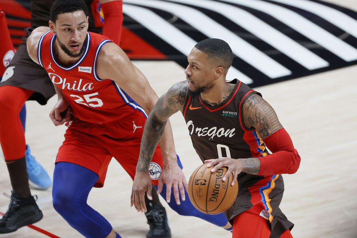 Damien Lillard Trade Rumors Odds Knicks Lakers Warriors Heat 76ers Blazers Portland