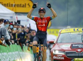 Dylan Teuns (Bahrain Victorious) crushed Colombiere to win his second-career stage win at the Tour de France with an impressive victory at Stage 8 in Le Grand Bornard. (Image: Reuters)