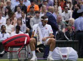 Roger Federer lost in straight sets to Hubert Hurkacz in the quarterfinals at Wimbledon on Tuesday. (Image: Kirsty Wigglesworth/AP)