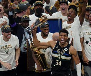Milwaukee Bucks Greek Freak win 2021 NBA championship