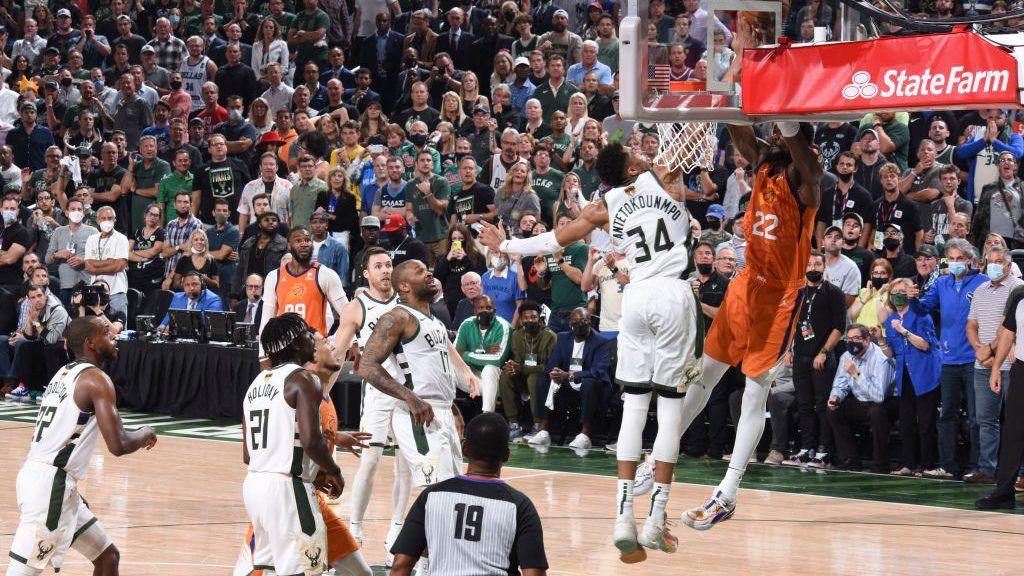 Greek Freak Deandre Ayton Khris Middleton Devin Booker Game 4 NBA Finals Bucks Suns