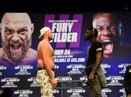 Tyson Fury (left) and Deontay Wilder (right) have rescheduled their third fight for Oct. 9. (Image: Frederic J. Brown/AFP/Getty)