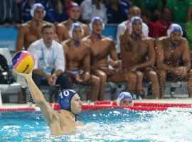 Denes Varga will lead Hungary as it tries to win the gold medal in men's water polo at the Tokyo Olympics. (Image: SIPA USA)