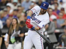 Joey Gallo trade rumors are heating up, with both the New York Yankees and San Diego Padres supposedly interested in the left-handed hitter. (Image: Dustin Bradford/Getty)