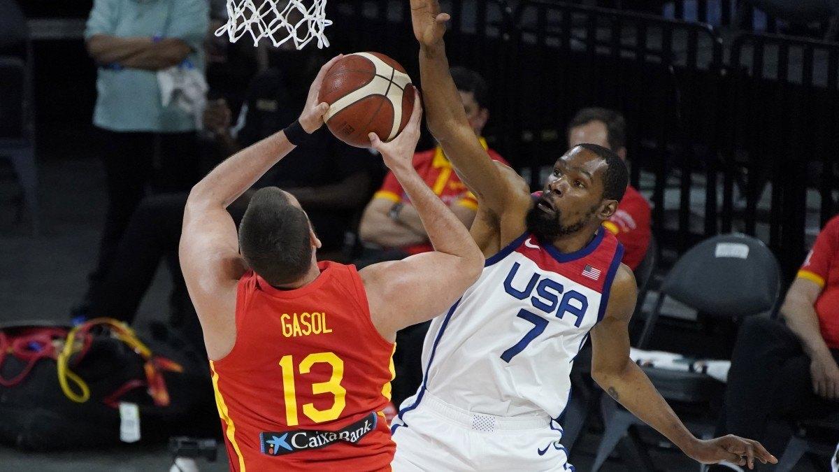 Team USA Kevin Ddurant Marc Gasol Spain Australia OlympicsTokyo Men's Basketball Odds