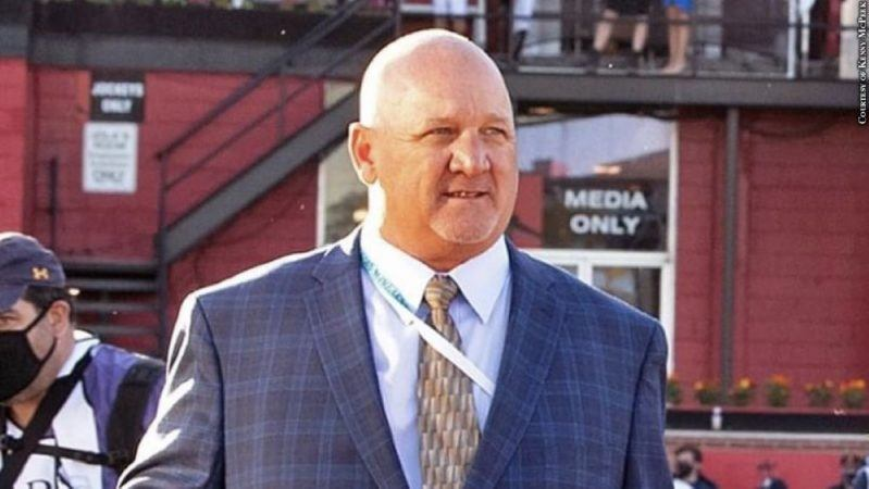 One of the most forthright trainers in the game, Kenny McPeek never blinks from a challenge. This is one reason why he's sending start filly Swiss Skydiver into the Grade 1 Whitney Aug. 7 at Saratoga. (Image: Kenny McPeek)