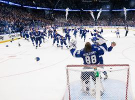 The Tampa Bay Lightning clinched back-to-back Stanley Cup titles with a 1-0 win over the Montreal Canadiens on Wednesday. (Image: Getty)