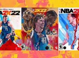 NBA 2K announced that Luka Doncic will appear on the standard cover of NBA 2K22, while the special NBA 75th Anniversary cover includes Kareem Abdul-Jabbar, Dirk Nowitzki, and Kevin Durant. (Image: NBA 2K)