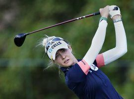 Nelly Korda enters the Olympic women's golf competition as the favorite to win a gold medal in Tokyo. (Image: John Bazemore/AP)