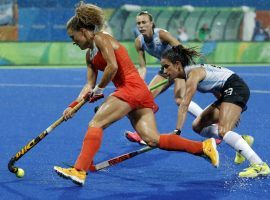 The Netherlands come to the Tokyo Olympics as the even money favorites to win gold in women's field hockey. (Image: Dario Lopez-Mills/AP)