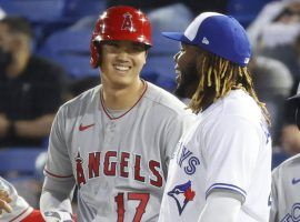 Shohei Ohtani (left) and Vladimir Guerrero Jr. (right) have left everyone else behind in the race for AL MVP. (Image: USA Today/Reuters)