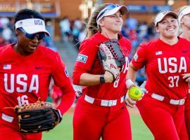 The United States will start the Olympic softball competition as the gold medal favorite, but will face a stiff challenge from defending champion Japan. (Image: Jacob Ford/Odessa American/AP)